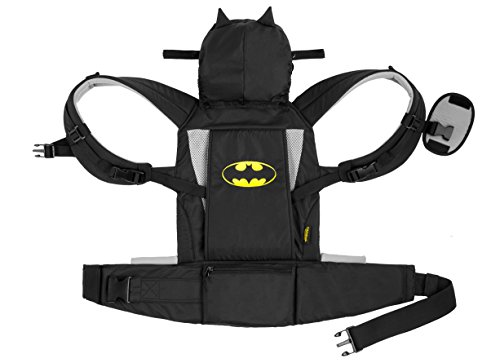KidsEmbrace Batman Baby Carrier, DC Comics Deluxe Carrier with Hood, Black ()