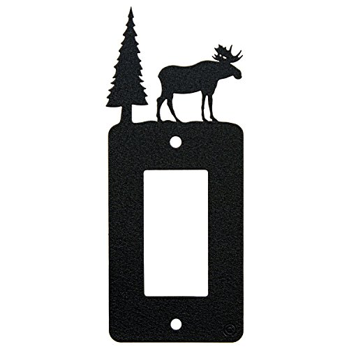 Cover Switch Moose Light (Innovative Fabricators, Inc. Moose Rocker Light Switch - GFCI Power Outlet - Plate-Cover)