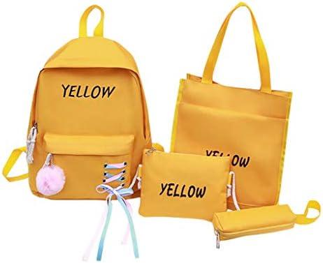 Mochilas Y Estuche Escolares Juveniles Morrales Escolares para NiñAs Bolsas Viaje Juvenil Viaje NiñA Y Estuche Escolar (Amarillo, 29 * 13 * 40 CM): Amazon.es: Equipaje