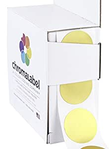 "1"" Metallic Gold, Color-Code Dot Labels (Write On Surface) 