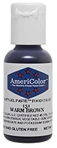 Americolor Soft Gel Paste Food Color, .75-Ounce, Warm Brown