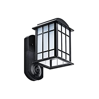 Kuna Smart Home Security Outdoor Light & Camera, Craftsman Black
