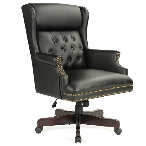 Queen Anne Leather Chair - 4