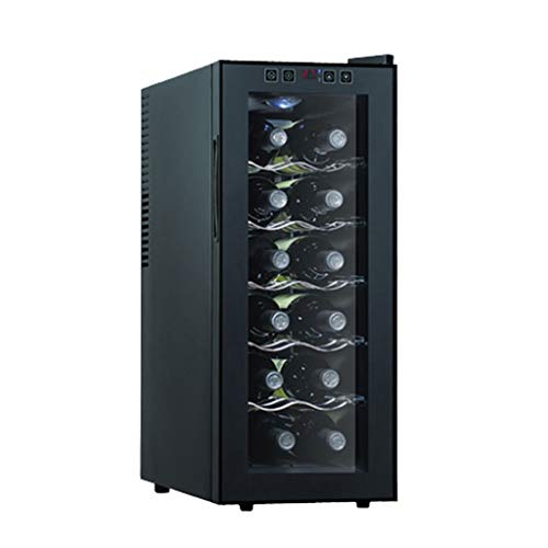Thermostat Wine Cabinet Built-in Household Mini Electronic Wine Cabinet Small Ice Bar Refrigerated Freezer Wine Cooler (Color : Black, Size : 6549.526cm)