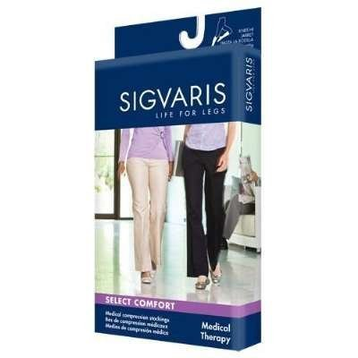 860 Select Comfort 20-30 mmHg Women's Closed Toe Knee High Sock with Silicone Grip-Top Size: M2, Color: Crispa 66 by Sigvaris by SIGVARIS