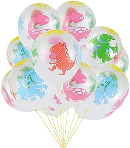 Colorful Kids Favor Baby Shower Inflatable Toys Latex Balloons Boy Girl Print