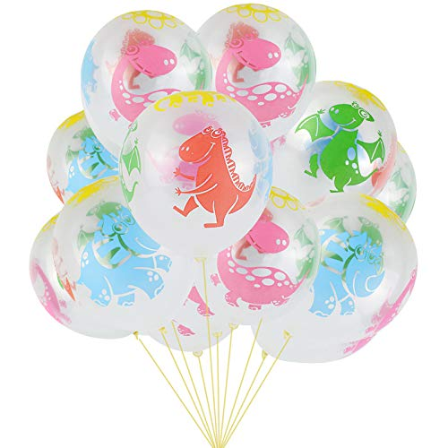Astra Gourmet Dinosaur World Jurassic Style Birthday Balloons 30pcs Large 12 Latex Balloons in Assorted Colors Party Pack