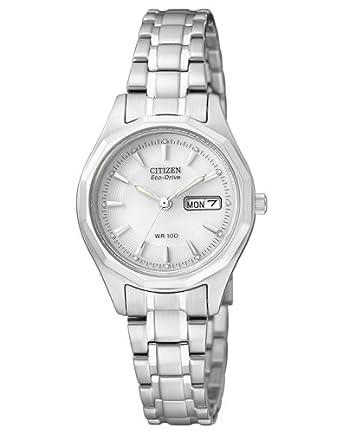 Citizen Reloj Analógico para Mujer de Cuarzo con Correa en Acero Inoxidable EW3140-51AE_1: Amazon.es: Relojes