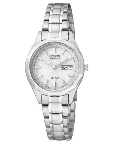 Citizen EW3140-51AE - Reloj analógico de cuarzo para mujer, correa de acero inoxidable