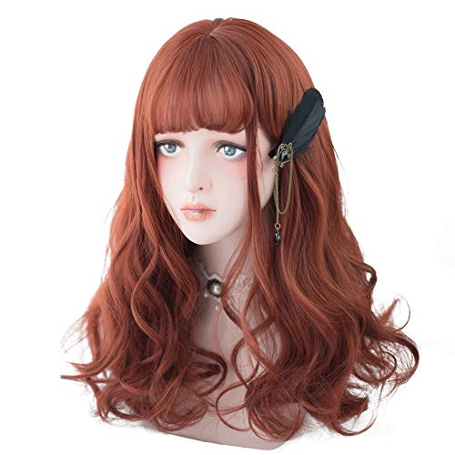 Long-Wavy-Red-Orange-Wig-Ginger-Wig-Bangs-For-Women-Cosplay-Party-Halloween-and-Daily-Natural-Synthetic-Orange-Hair-Lolita-Wig-with-Wig-Cap