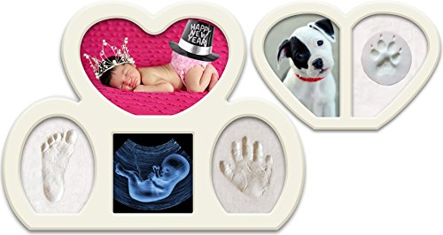 Epicoz Bundle. Baby Handprint and Footprint Photo Frame Kit. Unique Christening and Baptism Idea. Newborn Babyprints Keepsake.