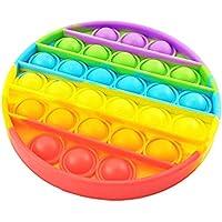 Bubble Sensory Fidget Toy Autism Special Needs Stress Reliever, Rainbow Pop Bubble Sensory Fidget Toy (Round)