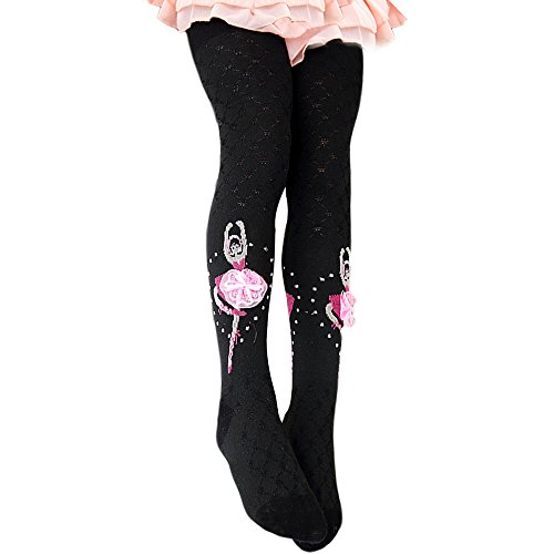 Price comparison product image YING LAN Little Girls Tight Stockings Leggings Trousers Dance Pantyhose 2-3Y Black