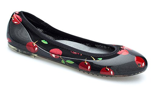 JA VIE Fashion Designer Shoes for Women Dress Shoes Slip On Womens Flats for Every Day Wear,Cherry SZ 36