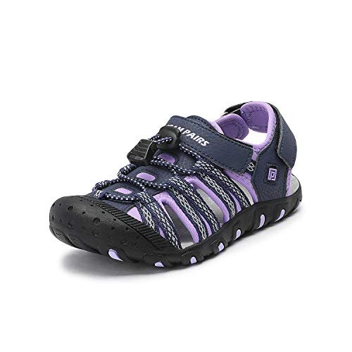 DREAM PAIRS Boys Girls Little Kid 171111-K Purple Outdoor Summer Sandals Size 2 M US Little Kid