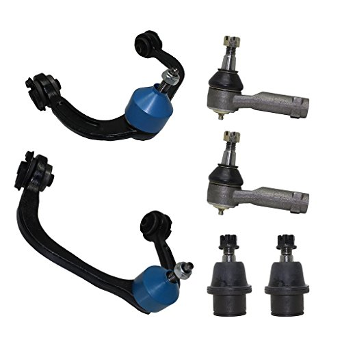 Detroit Axle - 6-Piece Front Suspension Kit - 2 Upper Control Arm & Ball Joint, 2 Lower Ball Joint, 2 Outer Tie Rod Ends [2004-2008 Ford F-150] (Joint Ball Replacement Ford)
