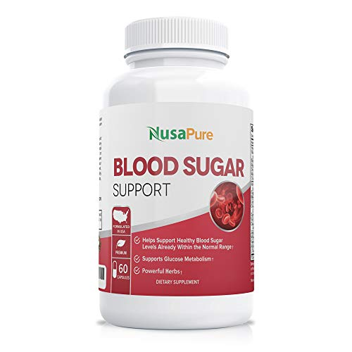 Blood Sugar Control Supplement (Non-GMO) : Supports Healthy Blood Glucose Levels Naturally with Bitter Melon, Magnesium, Gymnema Sylvestre, Guggul Herbs & More: 60 Caps