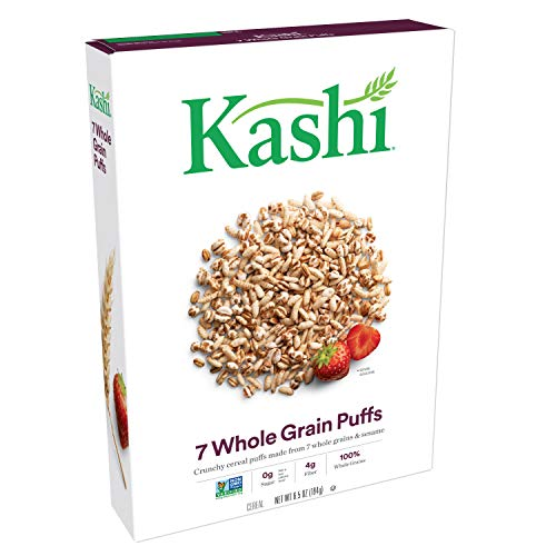 Kashi, Breakfast Cereal, 7 Whole Grain Puffs, Non-GMO Project Verified, 6.5 ()