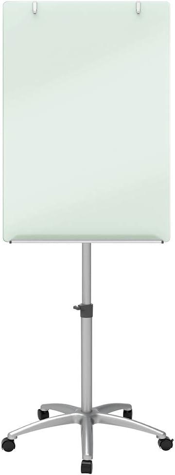 Quartet Easel, Magnetic, Glass Whiteboard, 3' x 2', Adjustable, Portable, Flip Chart Holder, Infinity (ECM32G)