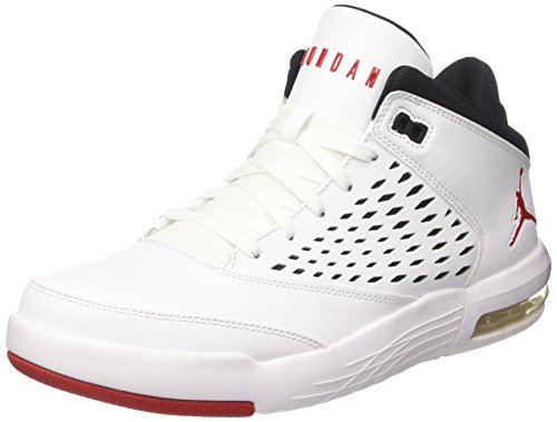 Jordan Men's Flight Origin 4 Shoe White/Gym Red-Black 10 by Jordan