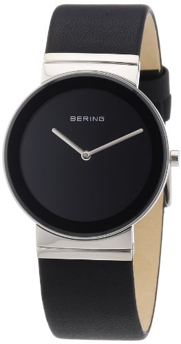 BERING Time 10135-402 Women's Classic Collection Watch with Leather Band and scratch resistant sapphire crystal. Designed in Denmark.