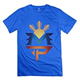 Geek Manny Pacquiao Logo Men's Tshirt RoyalBlue Size XL