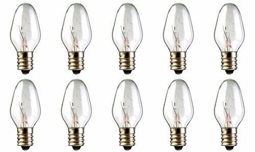 10-Pack 15 Watt Bulbs for Scentsy Plug-In Nightlight Warmer wax diffuser, 15W 120 Volt by Technical Precision