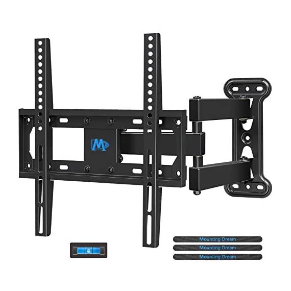 - 41IU5 2BVedeL - Mounting Dream TV Mount Full Motion with Perfect Center Design for 26-55 Inch LED, LCD, OLED Flat Screen TV, TV Wall Mount Bracket with Articulating Arm up to VESA 400x400mm, 60 lbs MD2377
