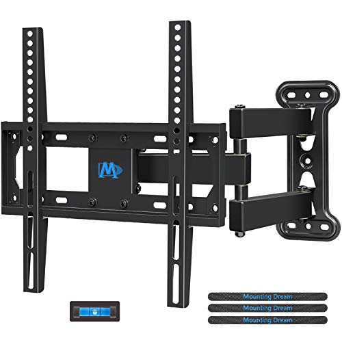 Mounting Dream TV Mount Full Motion with Perfect Center Design for 26-55 Inch LED, LCD, OLED Flat Screen TV, TV Wall Mount Bracket with Articulating Arm up to VESA 400x400mm, 60 lbs MD2377 (Best Swivel Tv Wall Mount)