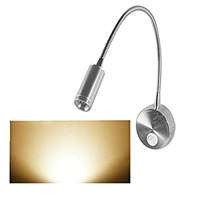 Wall lamp, Lollipop 3W Hose LED Light Flexible Gooseneck Sconce Lamp for Reading Studying Painting Picture Wall Lighting with Switch