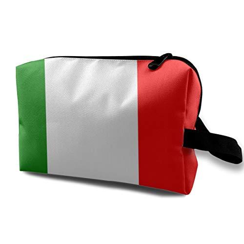 JimHappy Toiletry Jewelry Bag Italian Flag Lightweight Hip Hop Organizer Portable ()