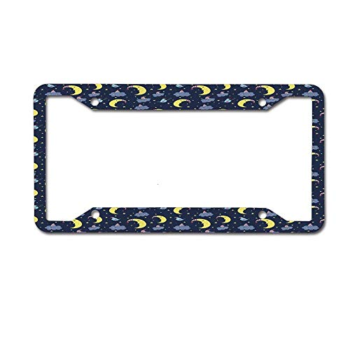 W Tactical License Plate Frame - Front and Rear License Plate Protection Frame 6x12 inches. Merry Noel Tree Ornaments Ribbon Happy New Year Holiday -