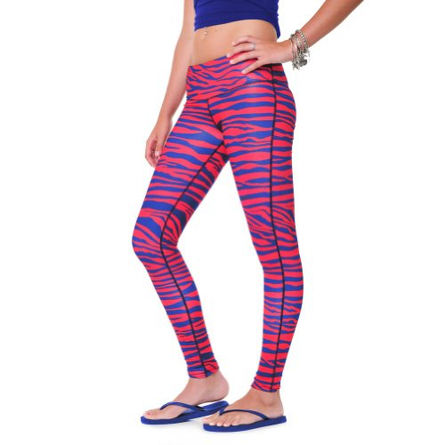 Team Tights Women's Leggings Large Royal Blue and Red XL