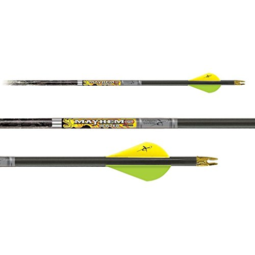 - Carbon Express Mayhem DS Hunter Arrows PreCut Inserts Installed Fletched with 2