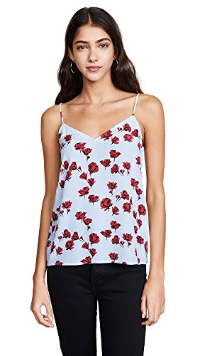 Equipment Women's Tossed Poppies Printed Layla Cami, Cool Breeze, Extra (Breeze Cami)