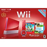Wii Console Bundle - Red - Model RVL-001
