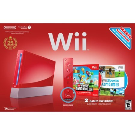 Wii Console Bundle - Red - Model (Red Wii)