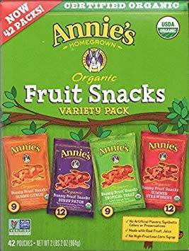 Annies Homegrown Organic Fruit Snacks Variety Pack, 42 Count