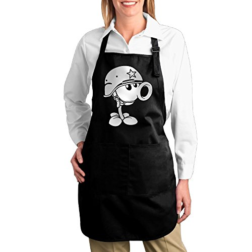 [Plants Vs Zombies Peashooter Kitchen Aprons For Women Men,Cooking Apron,bib Apron With Pockets] (Toddler Gardener Costume)