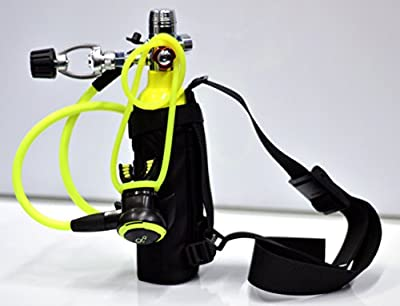 DXDIVER Bailout Pony Bottle Diving Kit with Nylon Belt - Hose - 6 cf Tank - SPG Gauge - Regulator - Fill Adapter - Spare Secondary Air Scuba Dive Egressor