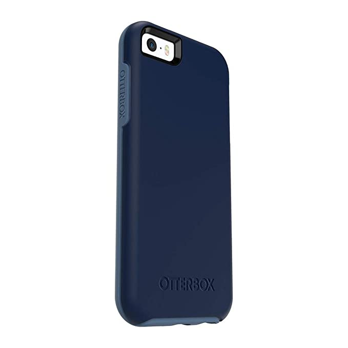 the latest 4e7de 2e230 OtterBox Symmetry Series Case for iPhone 5/5s/SE - Retail Packaging -  Blueberry Admiral Blue/Dark DEEP Water Blue (Bulk Packaging)