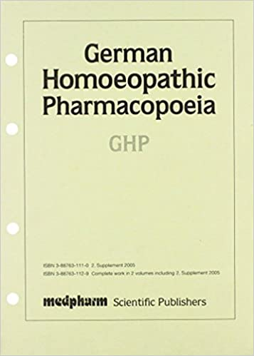 German Homoeopathic Pharmacopoeia, Second Supplement 2006