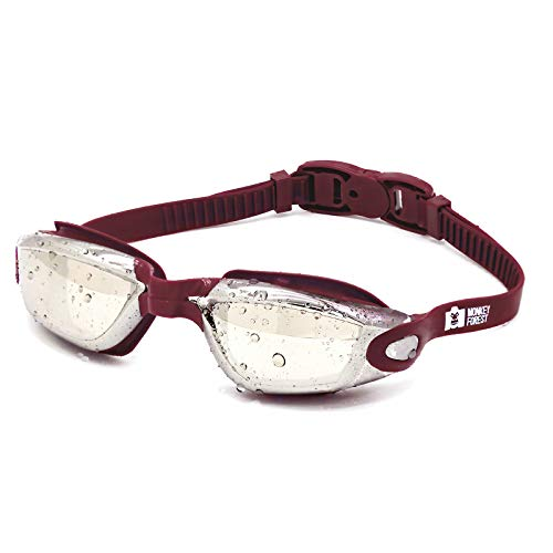 MONKEY FOREST Swim Goggles, Adjustable No Leaking Swimming Goggles for Adults