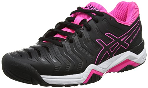 11 Schwarz 9090 Black Asics Hot Challenger Black Tennisschuhe Gel Pink Damen qSpnH6