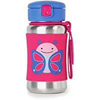 Skip Hop Kids Stainless Steel Sippy Cup Water Bottle With Straw