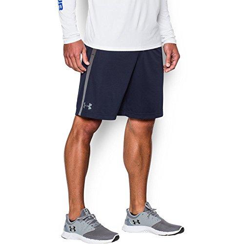 Under Armour Men's Tech Mesh Shorts, Midnight Navy (410)/Steel, Large (Under Armour Mens Shorts)