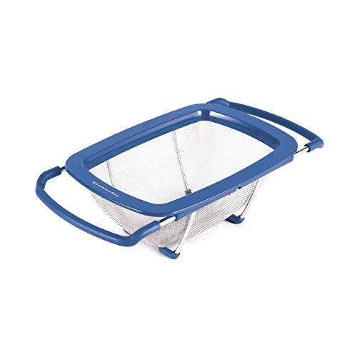(KitchenAid Expandable Stainless Steel Colander/Strainer, Ocean Blue )