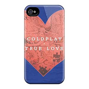 Scratch Resistant Cell-phone Hard Cover For Apple Iphone 4/4s (jsc17834XMEI) Unique Design Trendy Coldplay Band Skin
