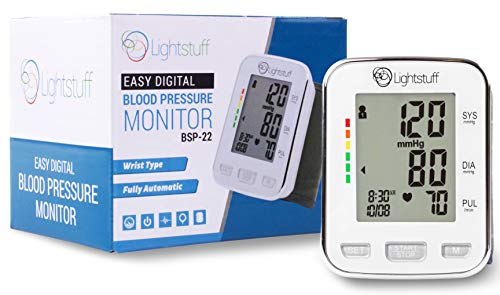 Blood Pressure Cuff Size Chart - Lightstuff Easy Digital Blood Pressure Monitor: FDA-Approved, Portable Wrist-Cuff for Dependable, Painless BP Monitoring at Home