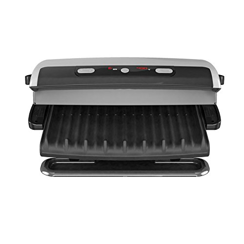George foreman 6 serving removable plate grill and panini press silver grp99 buy online in - Health grill with removable plates ...